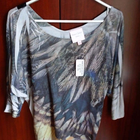 9443782ee9f958 Romeo & Juliet Couture Tops | Romeo Juliet Couture Large Top Sequins ...